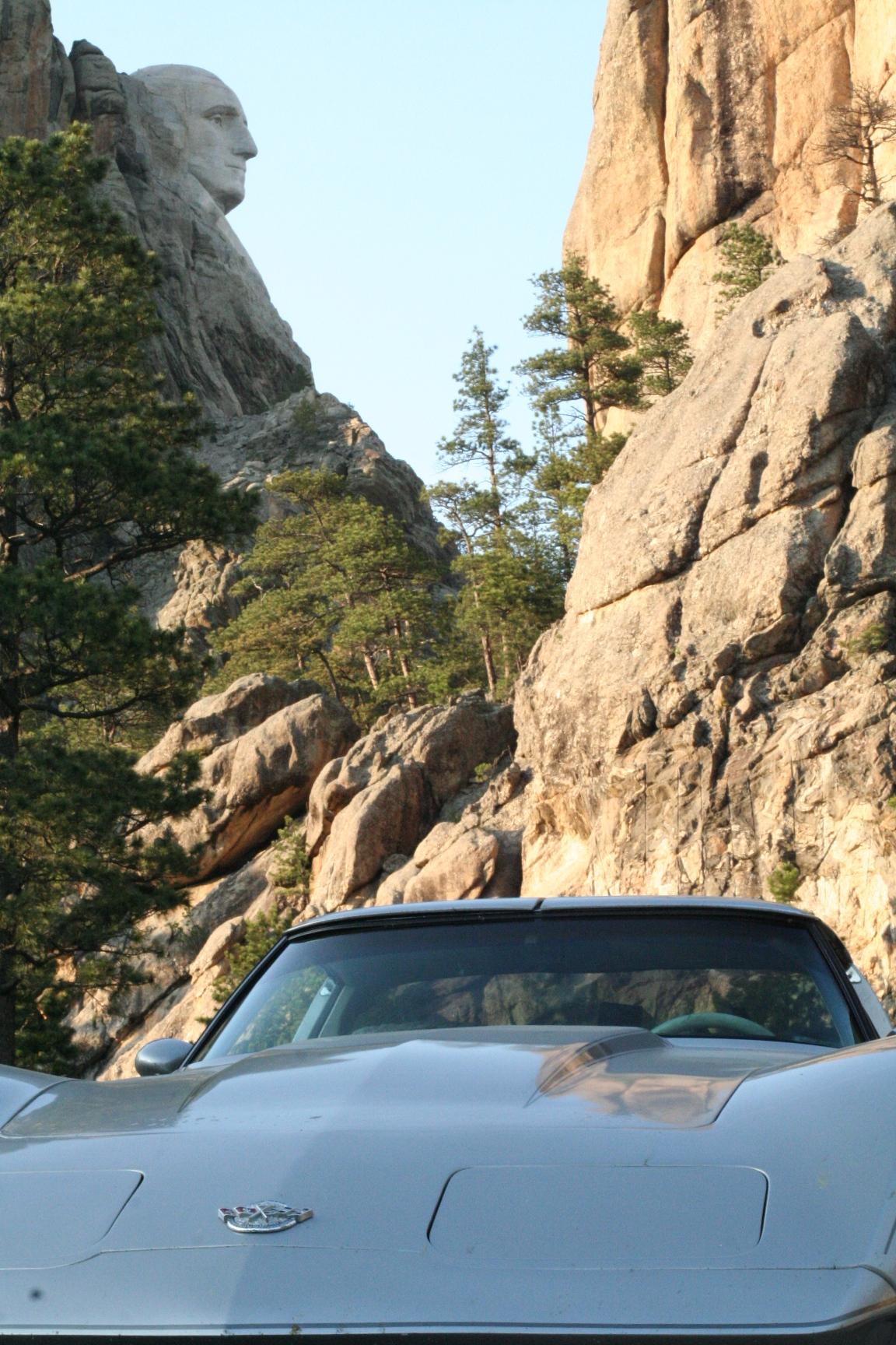 Mt. Rushmore in profile